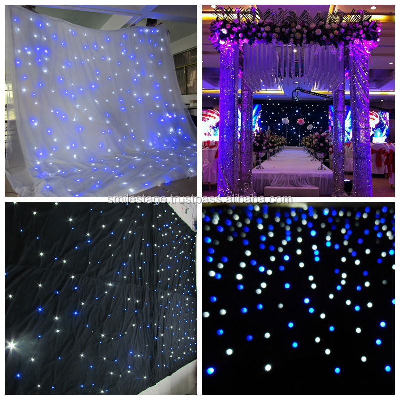 Wholesale Customized size led light curtain wall/ led table cloth