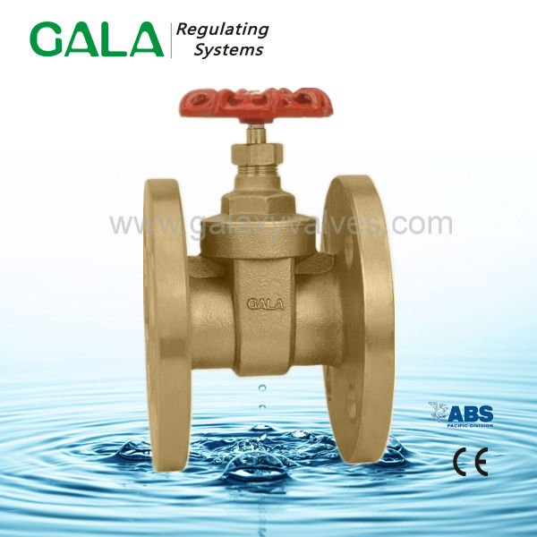 Brass water meter double flange gate valves ,brass stem gate valve