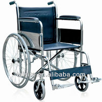 Economic chrome plating frame steel wheel chair for disabled 4620-8