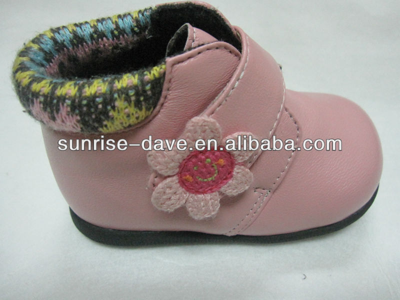 crochet flower patch for kid's shoes