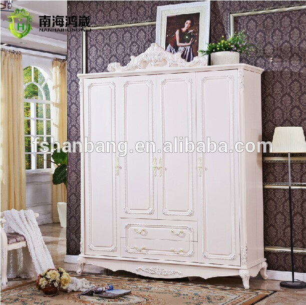 Antique European Baroque Bed Wedding Home Furniture Wooden French Bedroom furniture