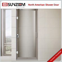 Sunzoom frameless tempered glass Hinge Open Style shower bath screen