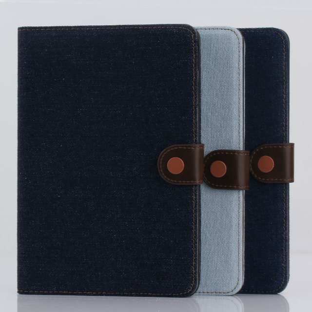 Flip Stand Cover with Card Slots Jeans and Premium Soft Leather case for Apple iPad Mini 3 2 1
