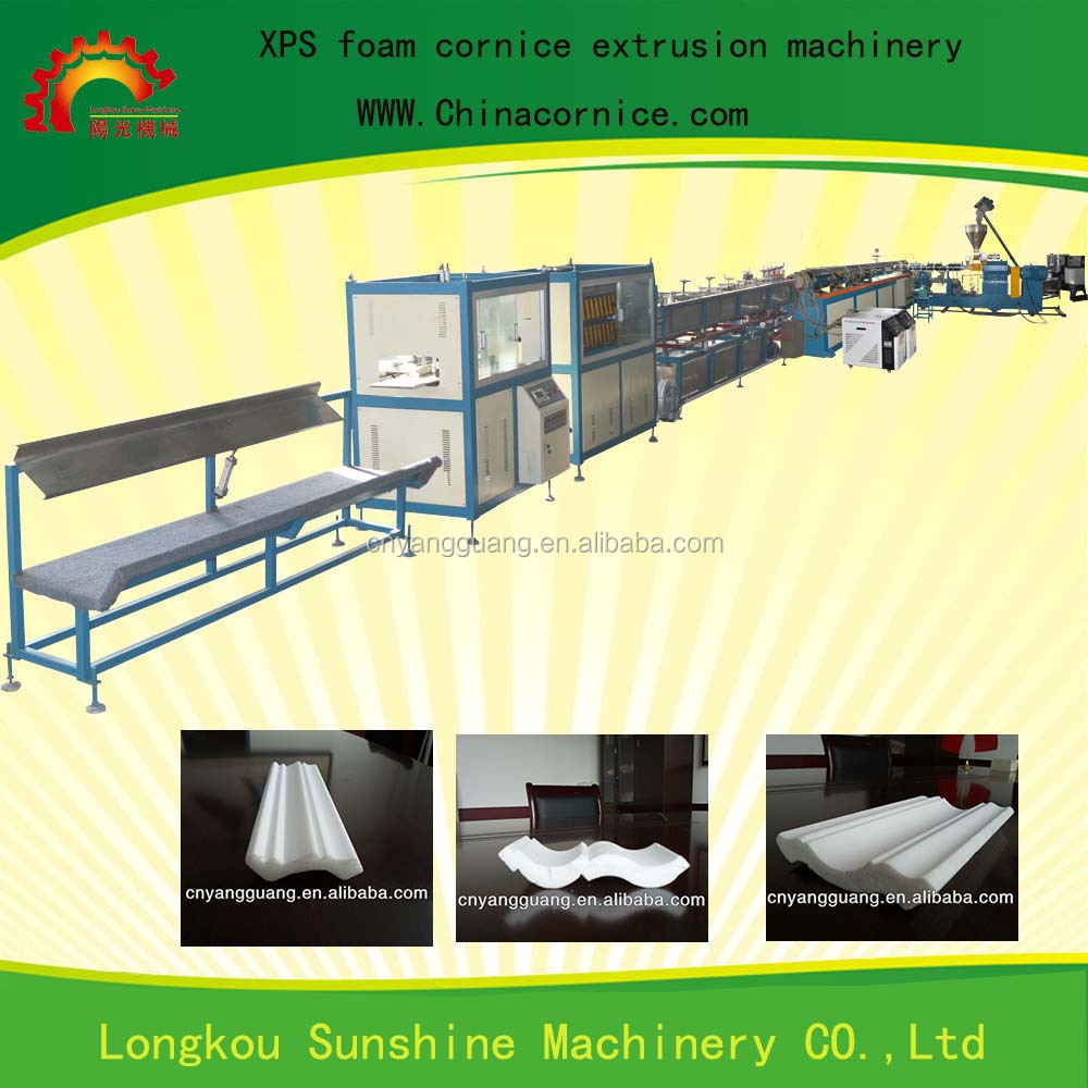 Full Automatic Polystyrene foam cornice making extruded machine