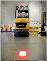 DC9-48V BLUE Oval LED Spot Light, Blue Or Red LED Forklift Safety Light (KF-FT-BL01), Black inside housing