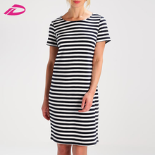 Fashion high quality latest dress designs pictures ladies office wear dresses striped dress