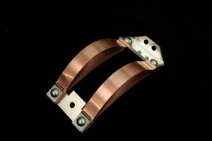 laminated foil flat copper connector for electric power conductor