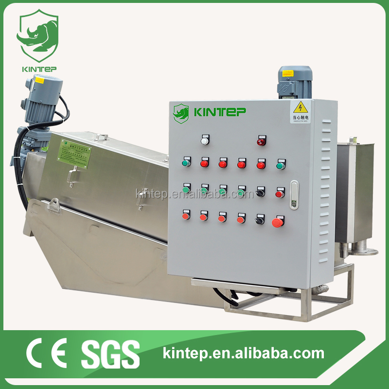 Screw sludge dewatering machine for slaughter house waste water