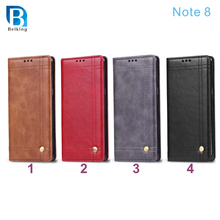 Card Holders Flip PU Leather Phone Cover for Samsung Galaxy Note 8 Case