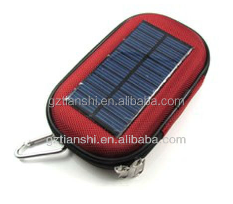 Custom solar mobile phone charger