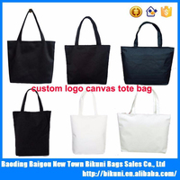 Custom blank cotton canvas wholesale tote bags shopping bags