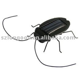 Solar Cockroach with micro vibration motor