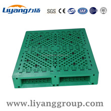 Green Color New HDPE Euro Standard Pallet Gridding Surface Cheap Plastic Pallet
