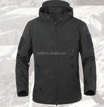 outdoor waterproof windproof plain dyed Shark skin softshell jacket hunting jacket
