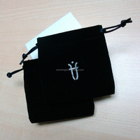 Black velvet luxury jewelry packaging box