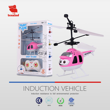 Cheap drone new LED blinking radio control sensor toy cartoon rc toy helicopter kid flying toys