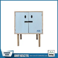 Lstest Model Wooden Living Room Cabinet/Kids Room Furniture Two Door Beach Blue Color
