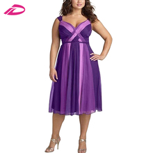New Design Evening Bridesmaid Womens Gown Plus Size Long Prom Dress