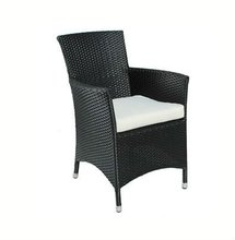Synthetic Rattan Outdoor Chair with Cushion