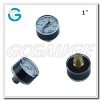 High Quality chrome-plated brass 1inch 23mm 25mm miniature pressure gauges with bourdon tube