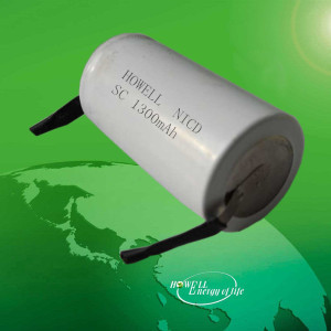 1.2V Nicd sc 1300mah rechargeable battery cell / NI-Cd battery