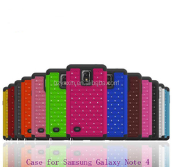 Exquisite mobile phone cover for Samsung galaxy note4 bling case / best defender case for Samsung note 4 N9100 phone accessories