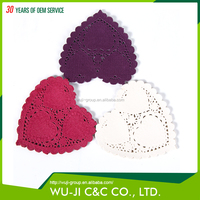 Latest design promotional eco-friendly colorful paper doily placemats
