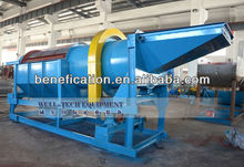 Gravel washing machine trommel screen for alluvial gold