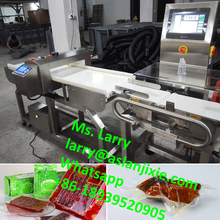 snacks weighing machine/metal detector with check weigher/food check weigher