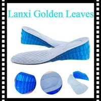 3 layers adjustable silicone full size shoe insoles invisible 7cm high heel elevator shoes for men