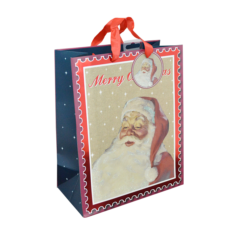 2016 Christmas paper bag/Fancy Christmas paper gift bags/paper bags for christmas