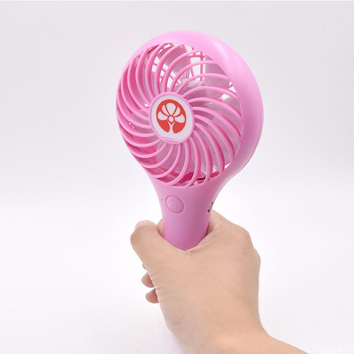 Promotional Gift USB Rechargeable Mini Air Cooler LED fan with battery