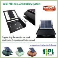 cattle farming house battery operated solar ventilator with 18v dc motor