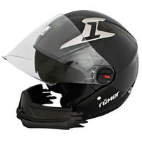 "Roemer ""Stuttgart"" Motorcycle Helmet Hybrid: Open Face or Full Face"