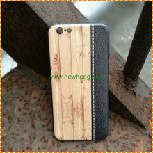 Hand Painted Art Pattern wooden grain TPU back cover case for iphone 8