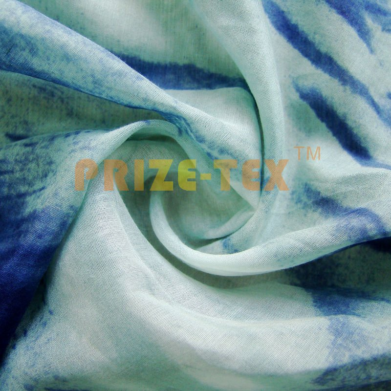 silk cotton fabric with print