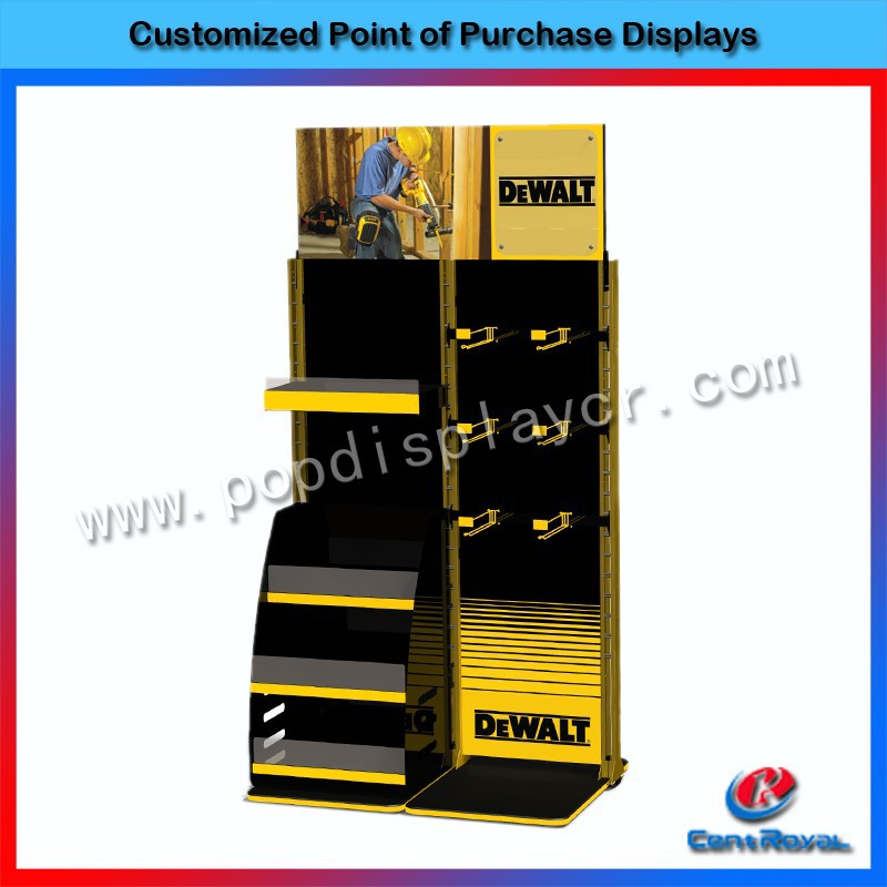 New style retail store wooden power tool display stand