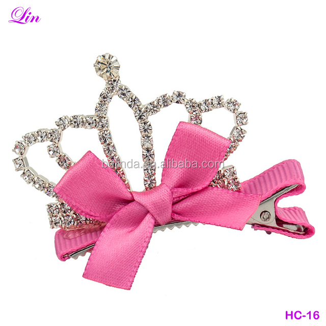 Cute Baby Girls Children Shiny Crown Hair Clip