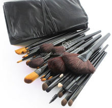 travel makeup brushes manufacturers china 32pcs Portable Makeup Brush Kit with Black bag