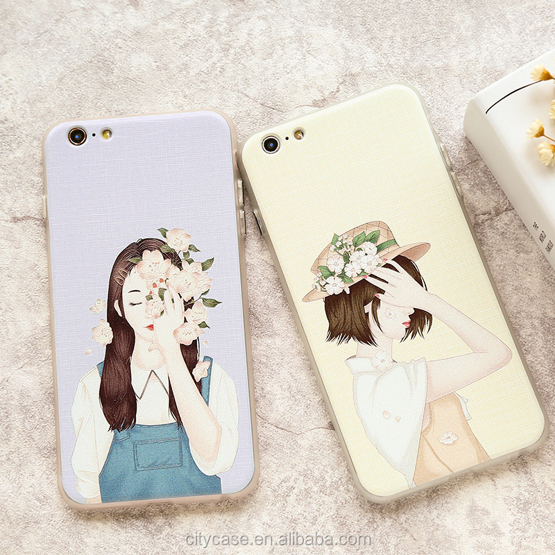 citycase flower girl 360 degree full protective phone case for iPhone 6 6s