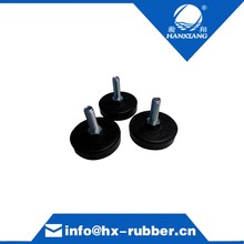Custom M6 adjustable rubber feet with mental for equipment/machine