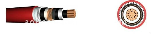 (N2XSYRYcable) Cu/XLPE/CWS/SWA/PVC power cable 33KV