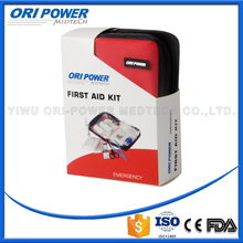OP manufacture FDA CE ISO approved supermarket&mall promotional with paper sleeve family commercial first aid kit