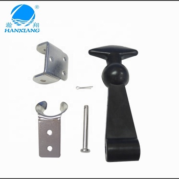 Small Good Quality plastic Draw Latch with Stainless steel Bracket