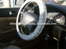 PE disposable plastic car steering wheel cover