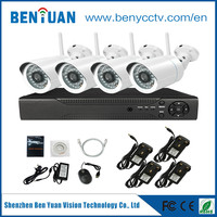 BenYuan 720P HDMI Wifi NVR 4CH CCTV Security Camera System Home Security Wireless IP Camera Kit