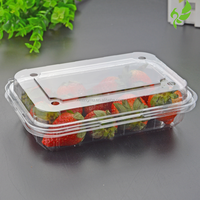 Transparent Plastic Fruit and Grape Clamshell Packaging Container Tray