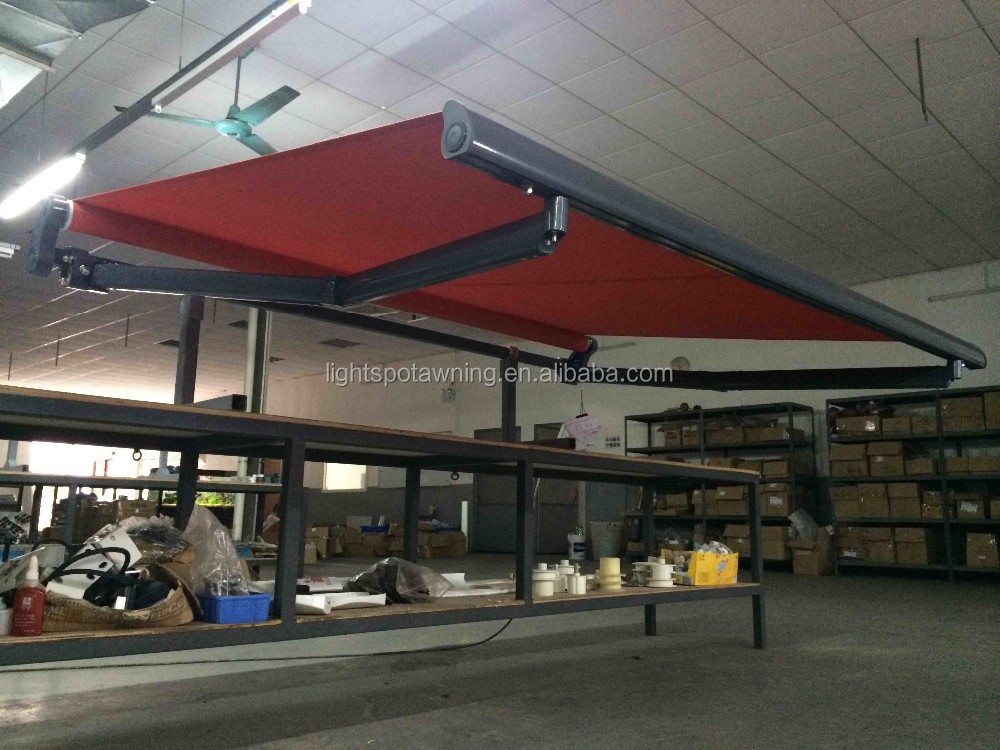 Fold arms aluminum sunsetter awnings