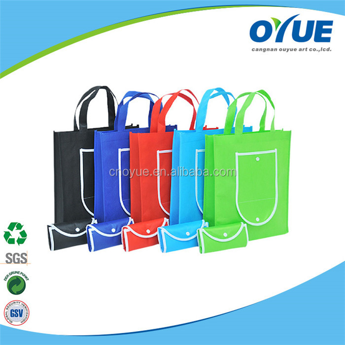 Popular reusable eco friendly high quality fold up shopping bag
