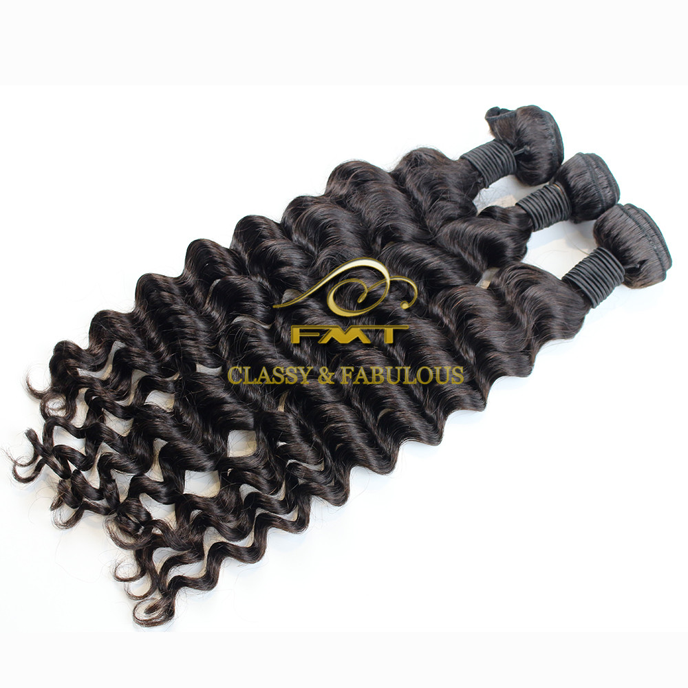 Top Grade 8A Virgin Raw Brazilian loose deep style deep wave Human Hair Extension